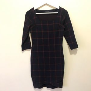 Express office dress XS blue